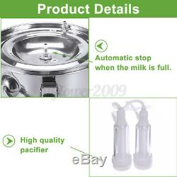 5L Automatically Stop Vacuum Impulse CowithGoat Milking Machine Electric Milker