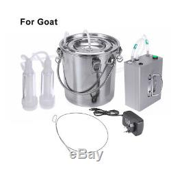 5L Automatically Stop Vacuum impulse CowithGoat Milking Machine Electric Milker Y