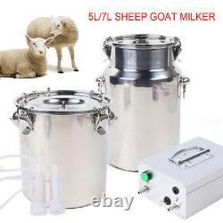 5L Dual Head Electric Sheep Goat Cow Milking Machine Vacuum Impulse Pump Milker