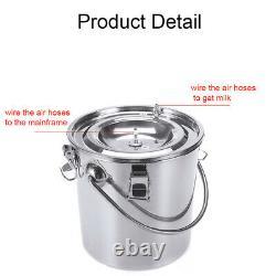 5L Dual Heads Electric Milking Machine Vacuum Impulse Pump CowithGoat Milke Tool