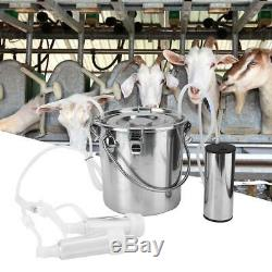 5L Electric Barrel Milking Machine Portable Vacuum Pump Cow Goat Milker Tank