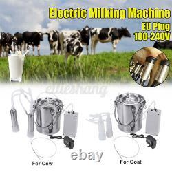 5L Electric Barrel Milking Machine Portable Vacuum Pump Cow Milker Tank