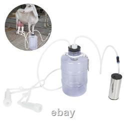 5L Electric Goat Cow Milking Kit Portable Vacuum-Pulse Pump Milking Machinef