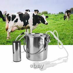 5L Electric Impulse Sheep Goat Cow Milker Milking Machine Bucket 100-240V