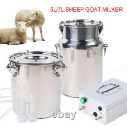 5L Electric Milker Vacuum Impulse Pump Milking Machine For Goats Cows WithBucket