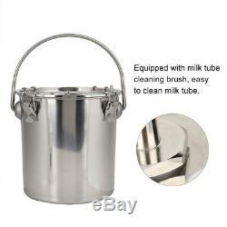 5L Electric Milking Machine Cow Cattle Milker Portable Vacuum Pump Bucket