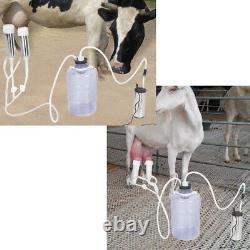 5L Electric Milking Machine Portable Vacuum Pump Cow Goat Milker Tank 100-240V