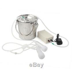 5L Electric Milking Machine Vacuum Impulse Pump Cow Goat Milker Stainless Steel