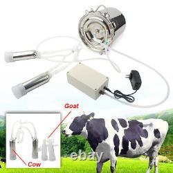 5L Electric Milking Machine Vacuum Impulse Pump Cow Milker Stainless Steel US