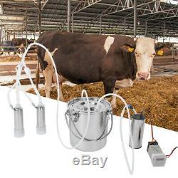 5L Electric Milking Machine Vacuum Impulse Pump Regulator Cow Goat Milker 110V