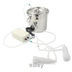 5L Electric Milking Machine Vacuum Impulse Pump Stainless Steel Cow Goat Milker