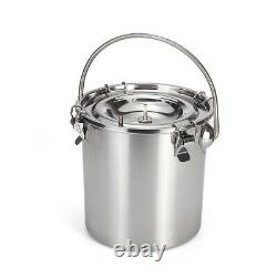 5L Electric Milking Machine Vacuum Impulse Pump Stainless Steel Cow Milker
