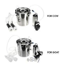 5L Electric Milking Machine Vacuum Impulse Pump Stainless Steel CowithGoat Milker