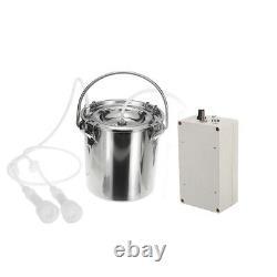 5L Electric Milking Machine Vacuum Pump Cow Goat Milker 2 Heads Adjustabl a t