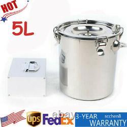 5L Electric Vacuum Impulse Milking Machine Cow Milker Stainless Steel Bottle NEW