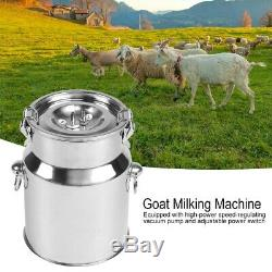 5L Electric Vacuum Milking Machine Cow Sheep Goat With Pulse Controller 240V