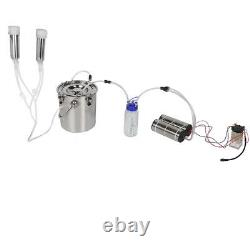 5L Goat Sheep Cow Milking Kit Portable Electric Impulse Milking Machinefor Co