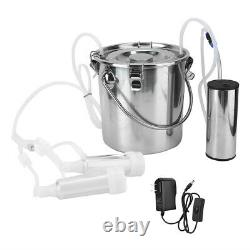 5L Household Electric Goat Cow Milking Machine With Vacuum-Pulse Pumpfor Goa