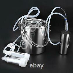 5L Household Electric Goat Cow Milking Machine with Vacuum-Pulse Pump 100-240V