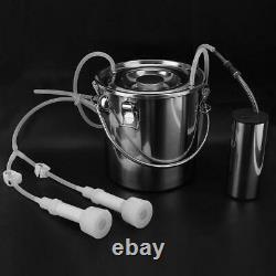 5L Portable Electric Milking Machine Milker Cow Sheep Milk Pump Electric Impulse