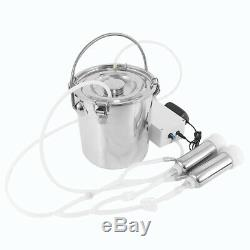 5L Portable Electric Milking Machine Strong Suction Milker Tank For Cow Cattle