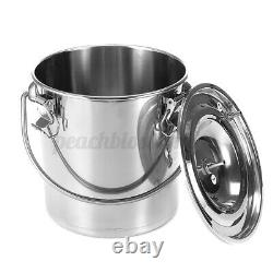 5L Stainless Steel Electic Milking Machine Cow Cattle Milke Device US 110