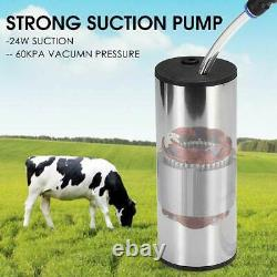5L US/EUR/AU Adapter Automatic Stop Electric Milking Machine Vacuum Pump Cow
