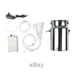 7L Cow Milker Electric Milking Machine Home Sheep Pulse Vacuum Pump Bucket