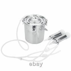 7L Cow Portable Adjustable Pulsating Electric Milker Milking Machine 100V240V