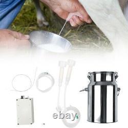 7L Cows Milker Mini Electric Milking Machine Home Sheep Vacuum Pump Bucket Home