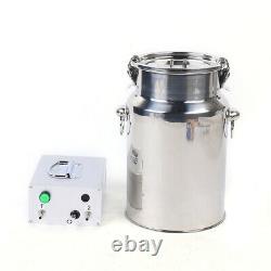 7L Electric Cow Milking Machine Vacuum Impulse Pump Stainless Steel 110V