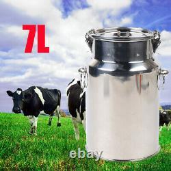 7L Electric Milking Machine Vacuum Impulse Pump Farm Cow Goat Sheep Milker 110V
