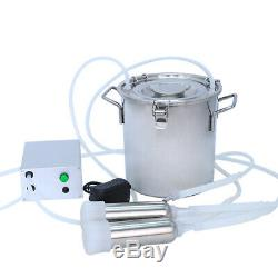 7L Electric Milking Machine Vacuum Pulsation Milker Stainless Barrel Cow Goat