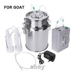 7L Electric Milking Machine Vacuum Pump Cow Goat utomatically Milker
