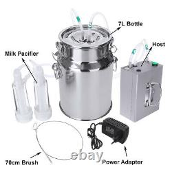 7L Electric Milking Machine Vacuum Pump Cow Goat utomatically Milker Device