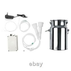 7L Electric Milking Machine Vacuum Pump For Farm Cow Goat Stainless Steel Bucket