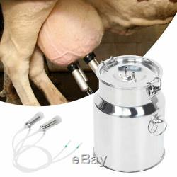 7L Electric Milking Machine Vacuum Pump Strong Suction Milker Tank For Cow Farm