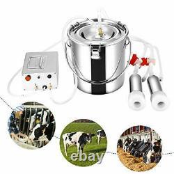 7L Milking Machine Cows Goat Automatic Electric Vacuum Suction Pump Milker