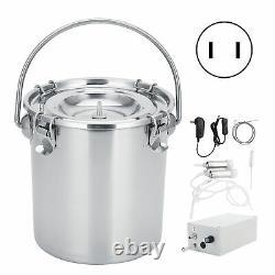 7L Milking Machine Kit For Cow Adjustable Pulsating Electric Milker