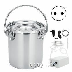 7L Portable Adjustable Pulsating Electric Milking Machine Kit For Cow 100240V