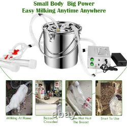 7L Portable Electric Milking Machine Vacuum Pump For Farm Cow Sheep Goat Milker