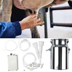 7L Portable Electric Milking Machine Vacuum Pump For Farm Cow Sheep Goat New