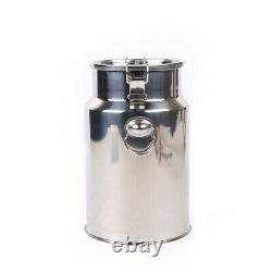 7L Portable Vacuum Pump Electric Milking Machine Stainless Steel Cow Milker 110V