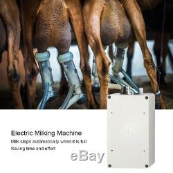 7L Stainless Steel Mini Electric Vacuum Milking Machine Cow Sheep Goats US Plug