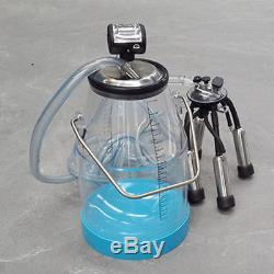 ASG Portable Transparent 25L Cow Milker Dairy Milking Machine Bucket Tank Barrel