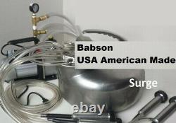 American Made Babson Bros. Milking Machine Surge Cow Vacuum Pump Complete System