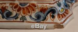 Antique Early Delft Signed'' Ar 1607'' Hand Painted Cow With Milker