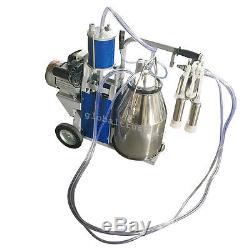 AsGreat Milker Electric Piston Vacuum Pump Milk Milking Machine Farm Cows Bucket