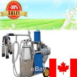 Auto Electric Milking Machine Farm Dairy Cow Milker 25L Vacuum Piston Pump FDA