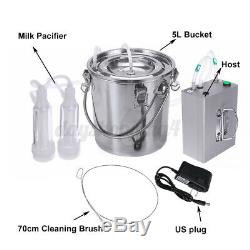 Automatically Stop Vacuum Impulse CowithGoat Milking Machine Electric Milker E